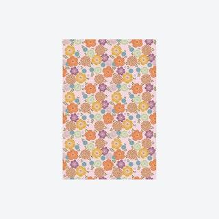 Vintage Bloem Roze Wallpaper