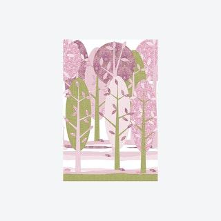 Leidse Hout Roze Wallpaper