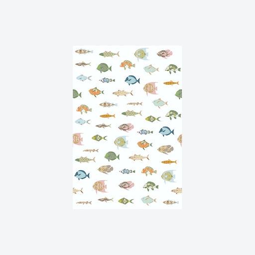 Vissen Wit Wallpaper