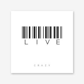 Barcode Crazy Art Print