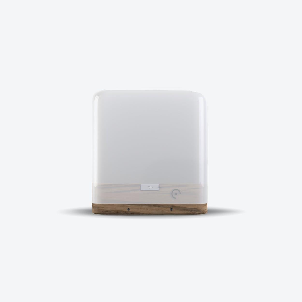 Lucis Wooden Zebrano Wireless Lamp & Travel kit