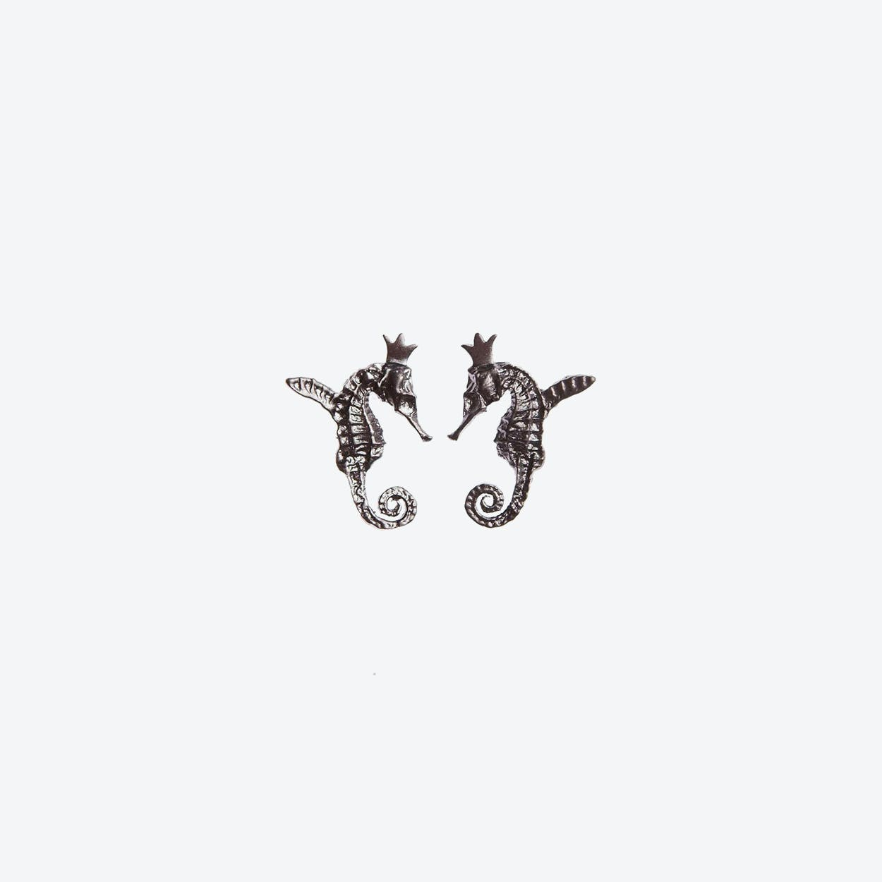 Hippo Couture Hippocamp Earrings in Black
