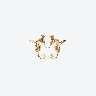 Hippo Couture Hippocamp Earrings in Gold