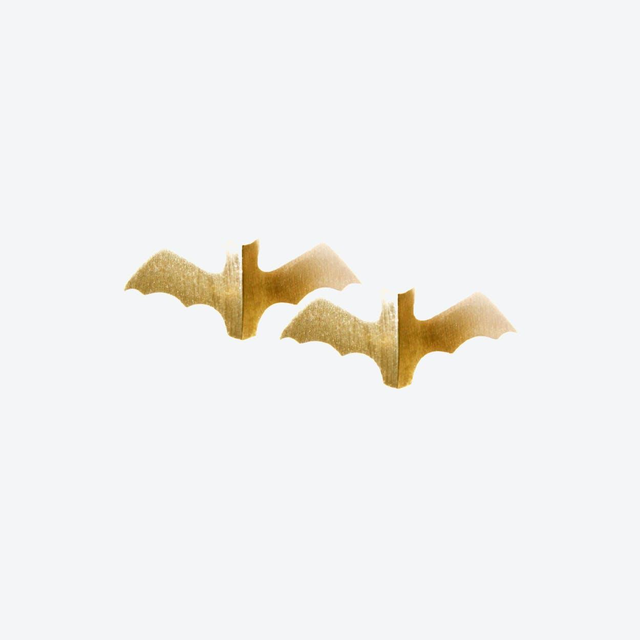 Voodoo Paradise Gold Bat Studs