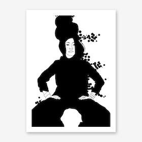 Strike a Pose Chloé Art Print
