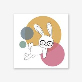 Space Rabbits Castor Art Print