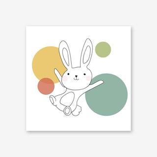Space Rabbits Vega Art Print