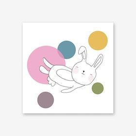 Space Rabbits Neo Art Print