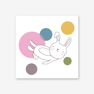 Space Rabbits Neo Art Print