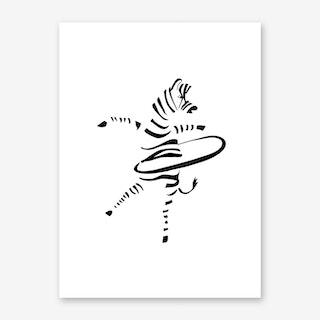 Hula-Hoop Zebra Art Print