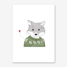 Furry Fox Art Print