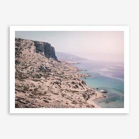 Red Beach x Crete Art Print