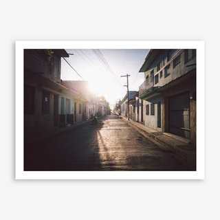 Sunset x Santiago de Cuba Art Print