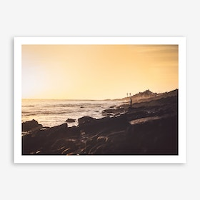 Sunset x Morocco Beach Art Print