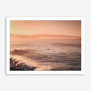 Lonley Dog Surfing x Morocco Sunrise Art Print