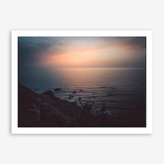 Sea Sunset I x Cliffs, Portugal Art Print