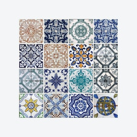 Mosaic Tiles Pattern Wall Stickers (Pack of 4 Sheets)