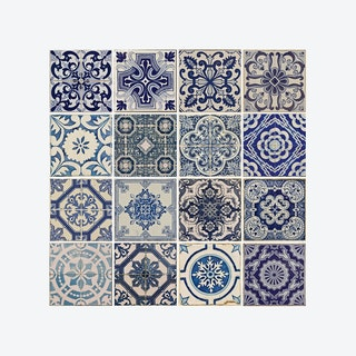 Spanish Blue Tile Pattern Self-adhesive Decal