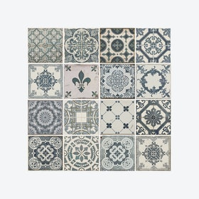 Vintage Blue Tile Pattern Self-adhesive Decal