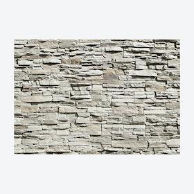 Stone Brick Wall Mural