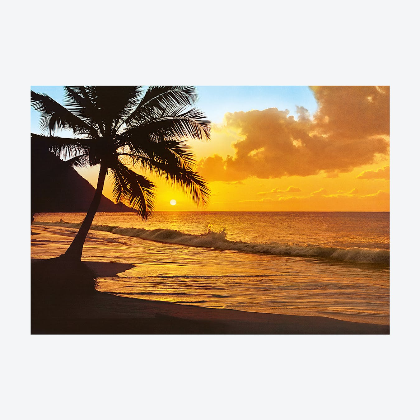 Tropical Sunset Wall Mural