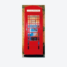 London Telephone Box Door Mural