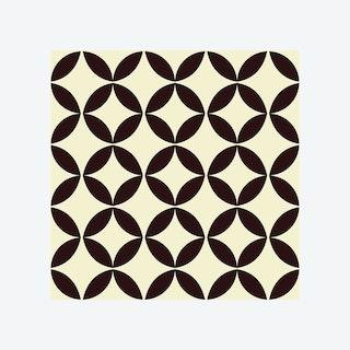 Circle Star Pattern Self-adhesive Wall Decal