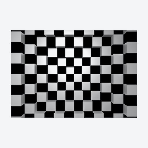 Falling into Chess Board Wall Mural