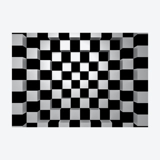 Falling into Chess Board Wall Mural