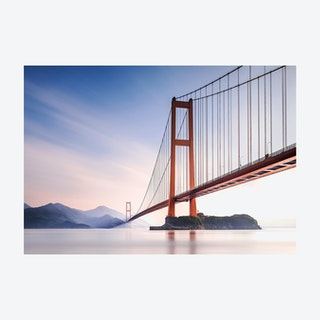 Dawn by the Golden Gate Bridge Wall Mural