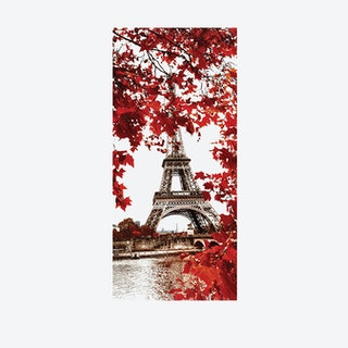Eiffel Tower Vinyl Door Mural