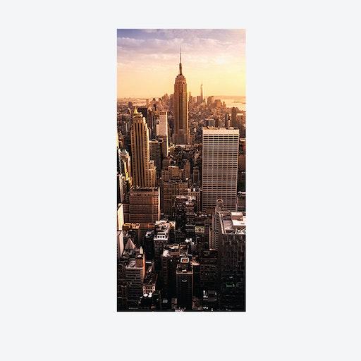 View Over Manhattan Door Mural