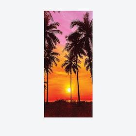 Tropical Sunset Door Mural