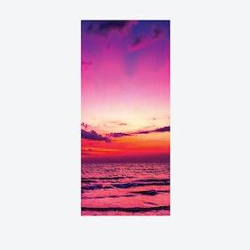 Sunset At Sea Door Mural