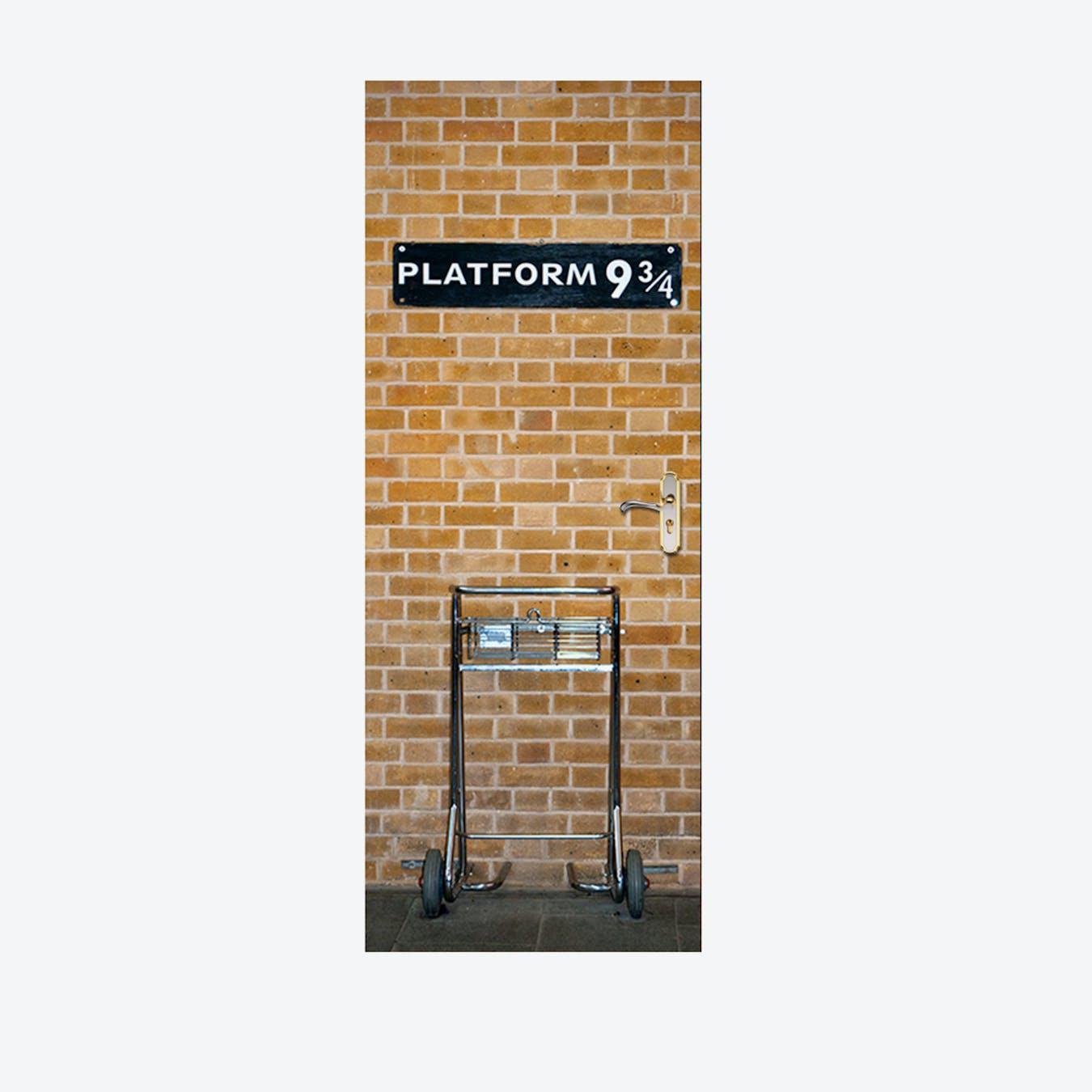 Kings Cross Platform 9 3/4 Door Mural