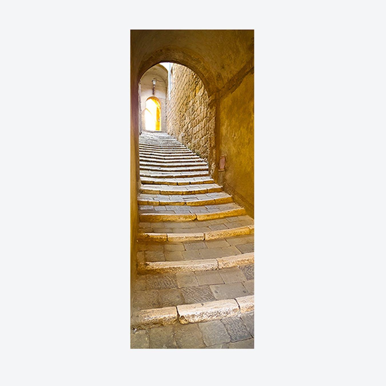 Stone Stairway Door Mural