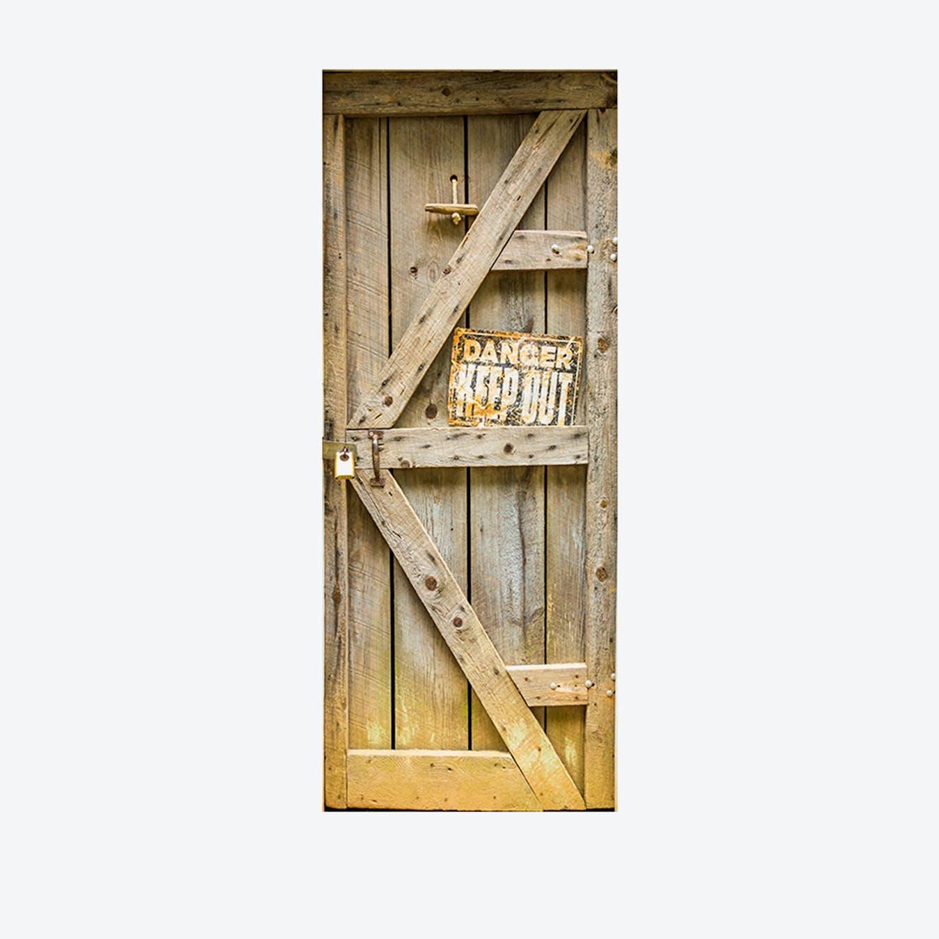 Timber Door Mural