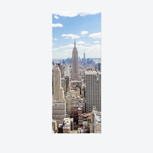 Manhattan View Door Mural