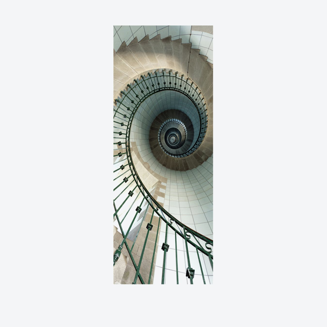 Spiral Stairs PVC Door Mural