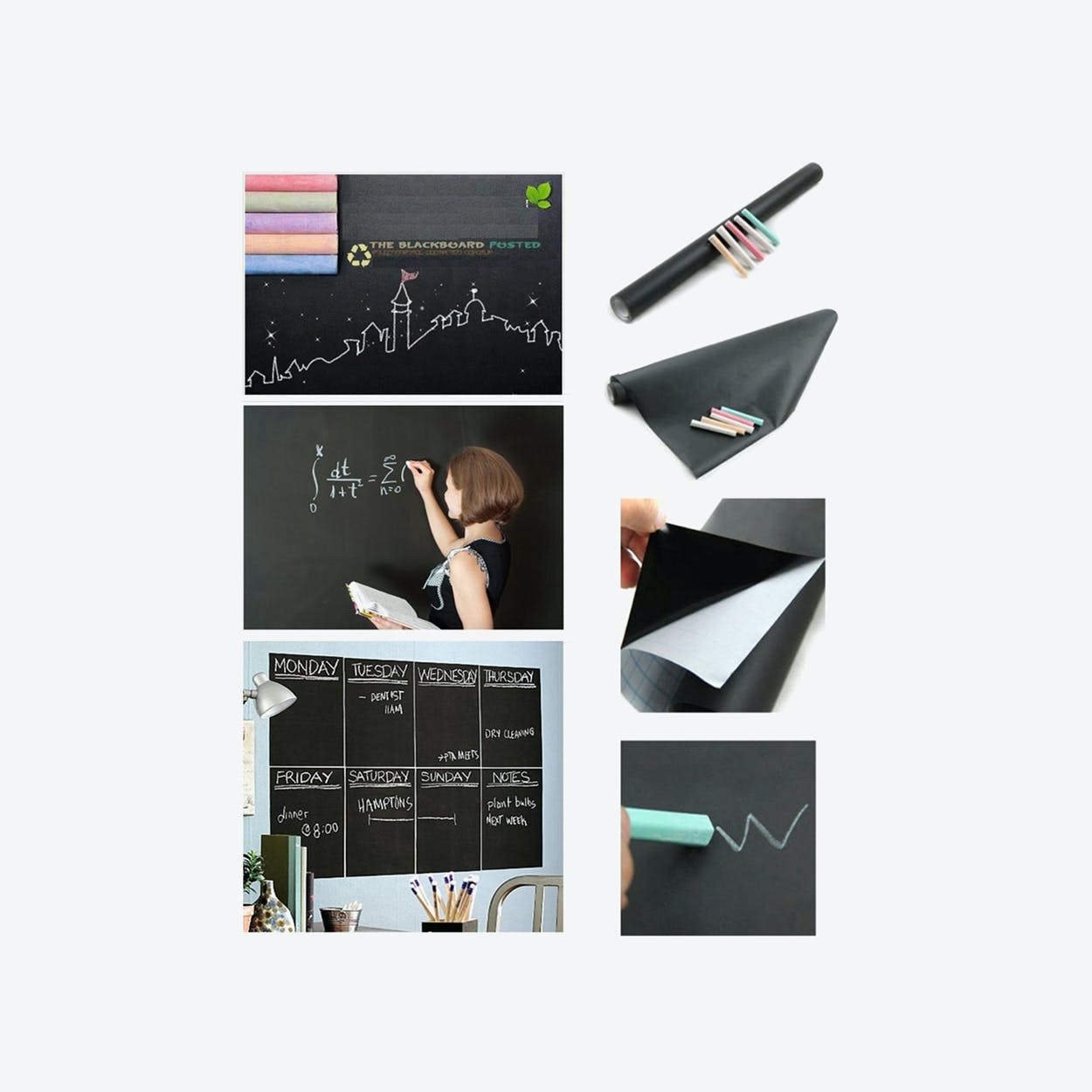 Blackboard Wall Sticker with Chalks