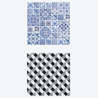 Diamond and Tile by the Ocean Self-adhesive Furniture Wrap