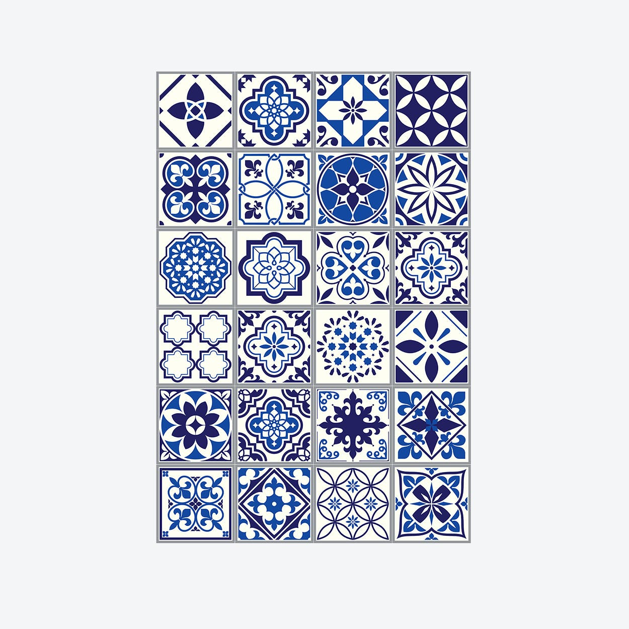 Spanish and Moroccan Blue Wall Sticker Decal