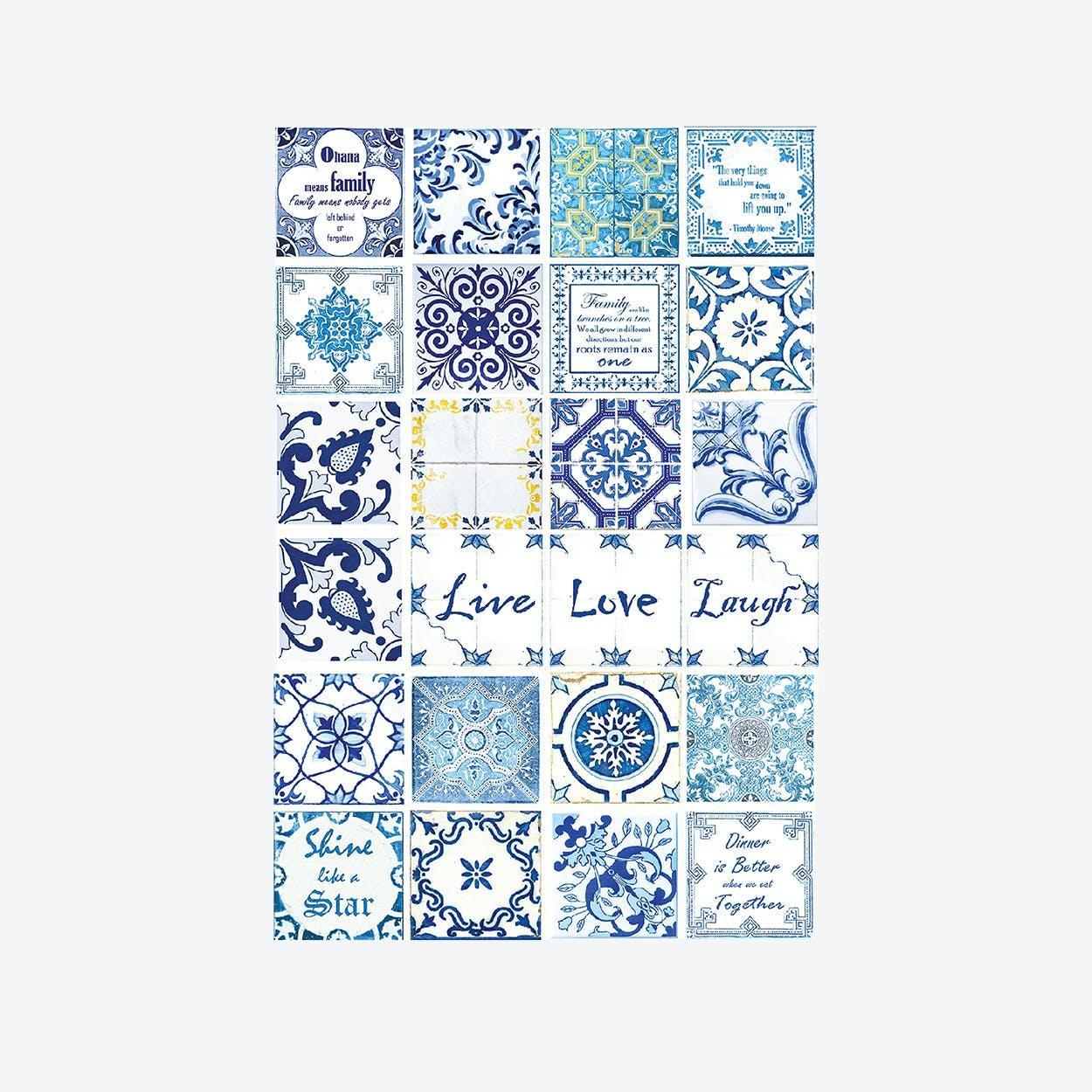 Blue Mosaic Wall Sticker Decal