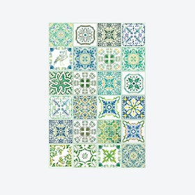 Walplus Turkish Green Mosaic Tile Decal