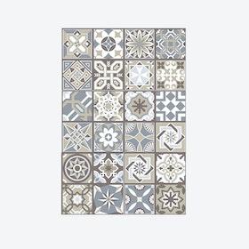 Limestone Spanish Tiles Wall Sticker Decal