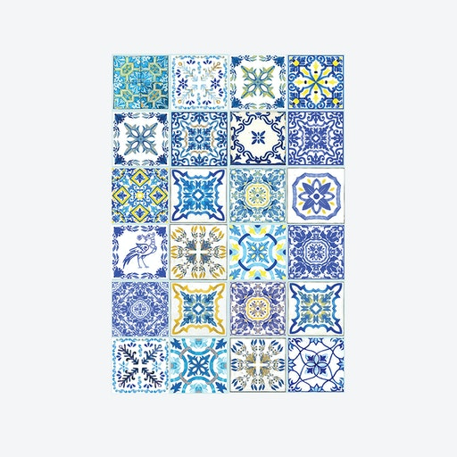 Mediterranean Skye Classic Blue Wall Sticker Decal