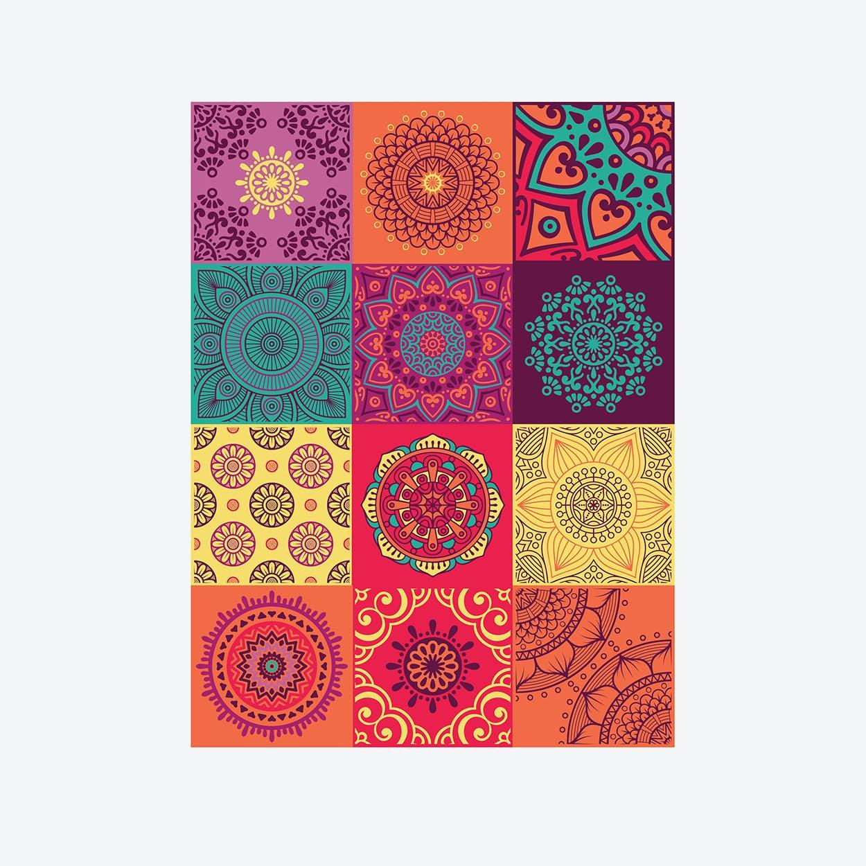 Colourful Mandala Wall Sticker Decal