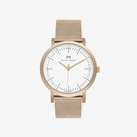 ODYSSEY Watch Rose Gold and Rose Gold Mesh Strap, 36mm