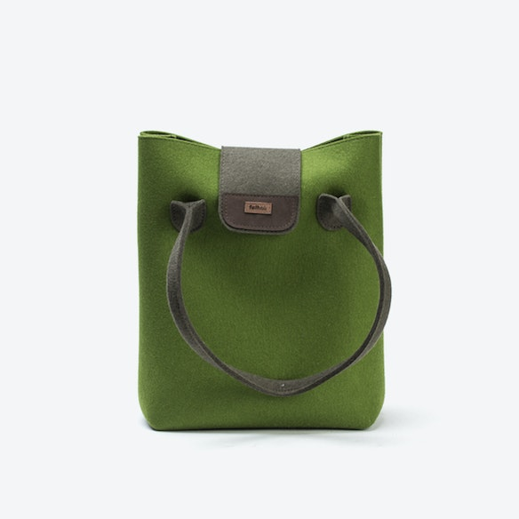 bdc7fcf0f81 Practical Bag in Olive Green Loden by Feltstyle - Fy
