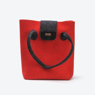 Practical Bag in Tomate Red/Anthracite